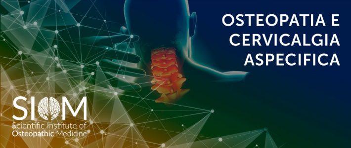 OSTEOPATIA E CERVICALGIA ASPECIFICA