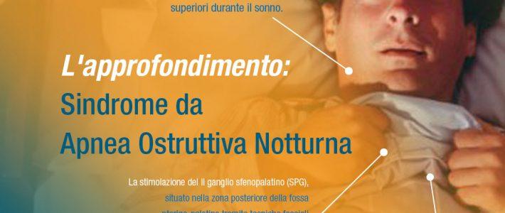 L'APPROFONDIMENTO:  SINDROME DA APNEA OSTRUTTIVA NOTTURNA